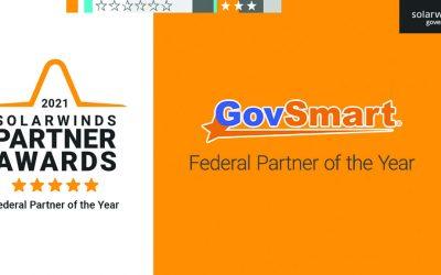 "GovSmart Named ""SolarWinds Federal Partner of the Year"""